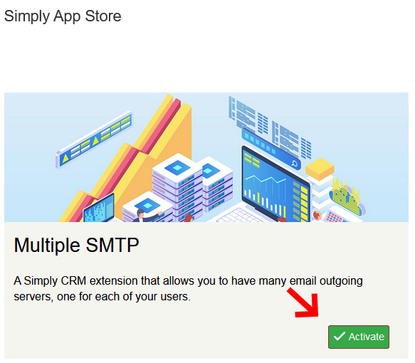 Multiple SMTP in the Simply CRM App Store