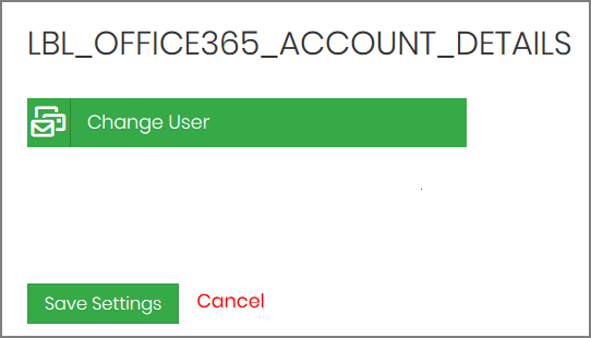 Save Settings in Office 365